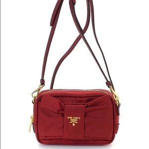 Prada Tessuto Red Cross Bag